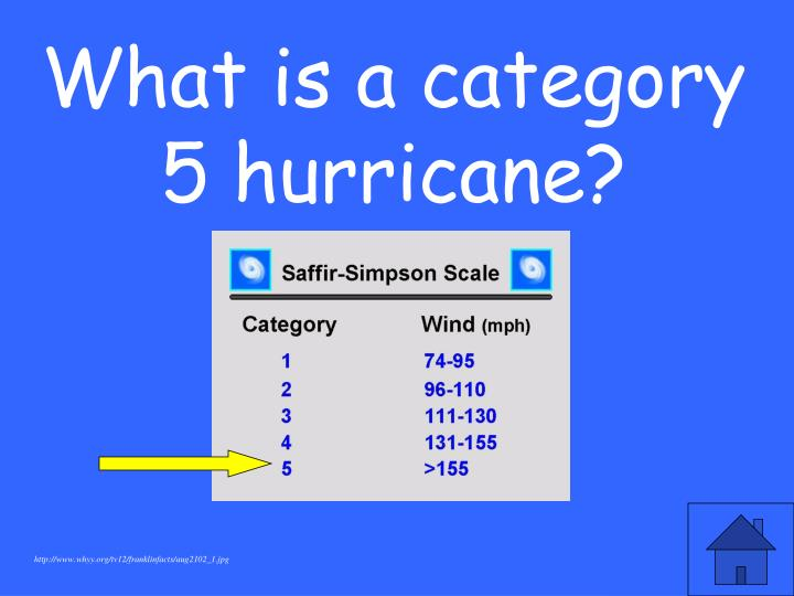 What is a category 5 hurricane?