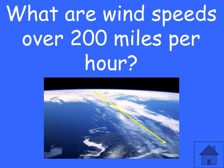 What are wind speeds over 200 miles per hour?