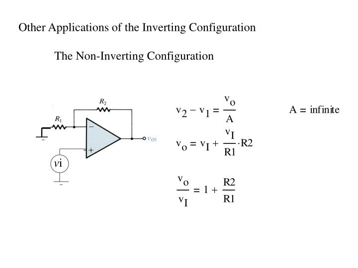Other Applications of the Inverting Configuration