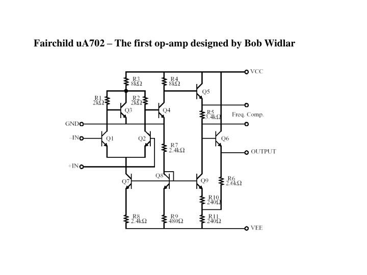 Fairchild uA702 – The first op-amp designed by Bob Widlar