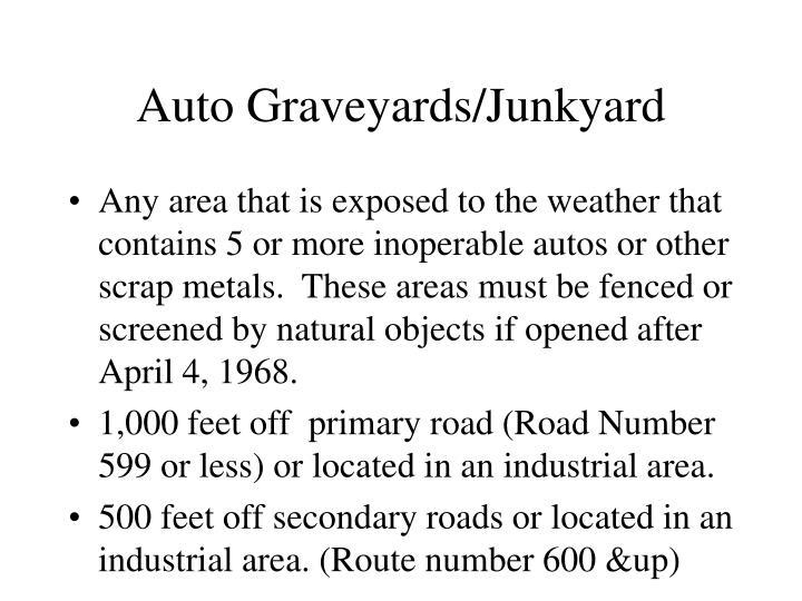 Auto Graveyards/Junkyard