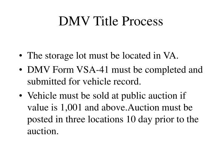 DMV Title Process