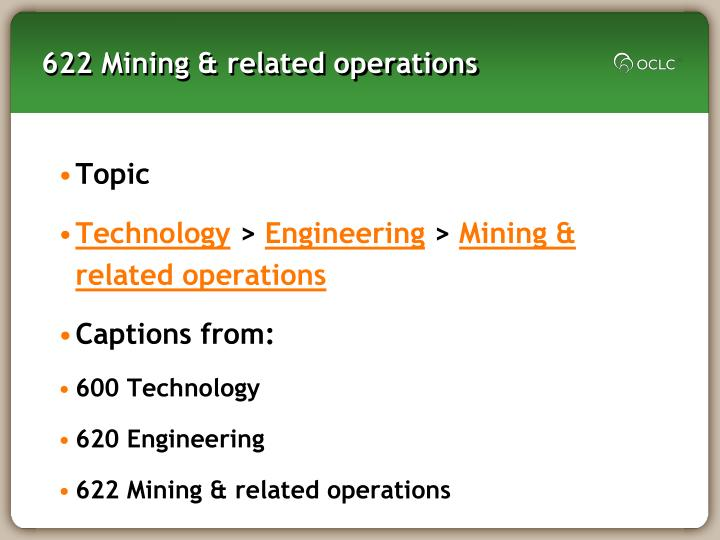 622 Mining & related operations