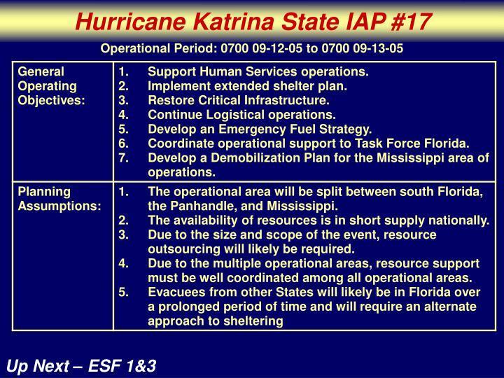 Hurricane Katrina State IAP #17