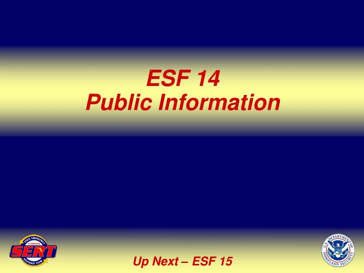 ESF 14