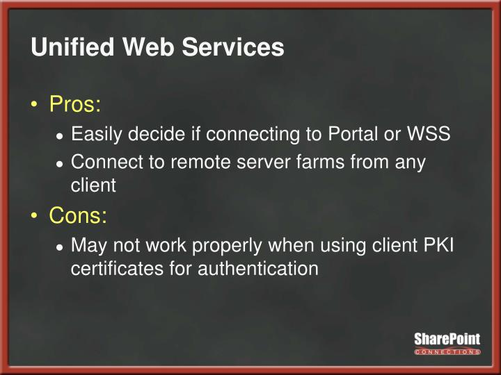 Unified Web Services