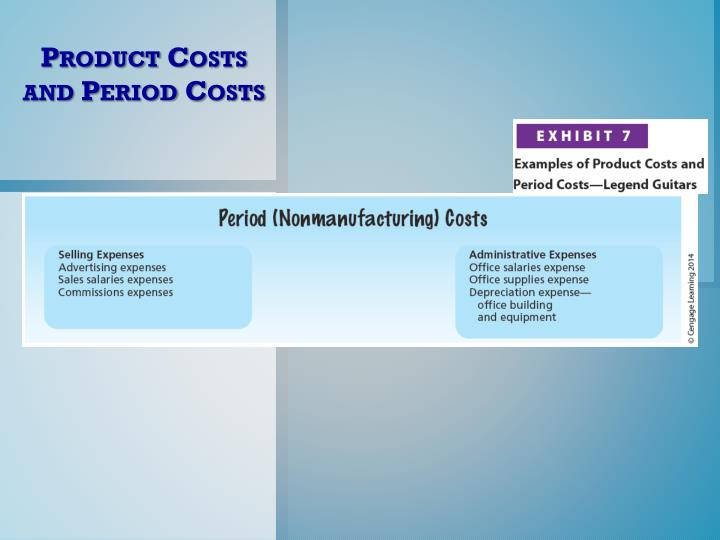 Product Costs and Period Costs