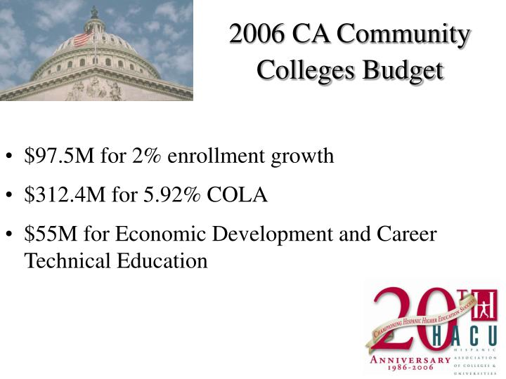 2006 CA Community Colleges Budget