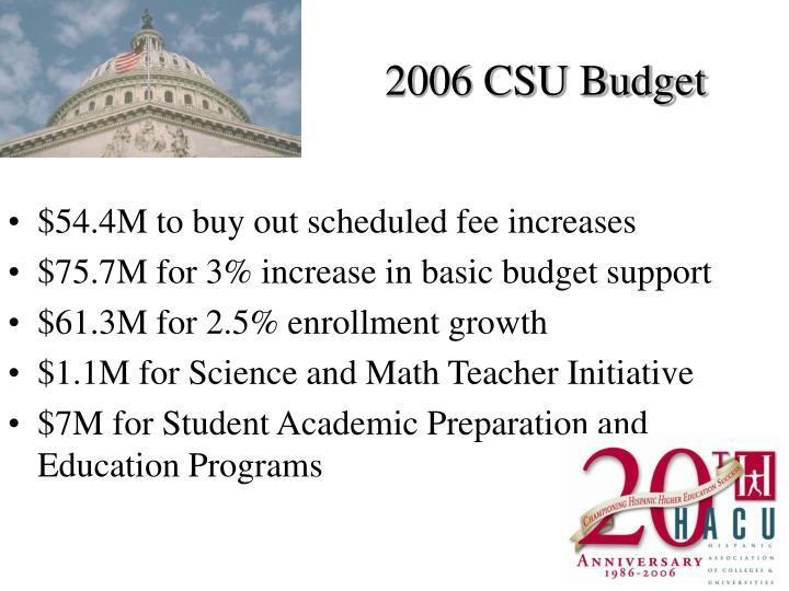 2006 CSU Budget
