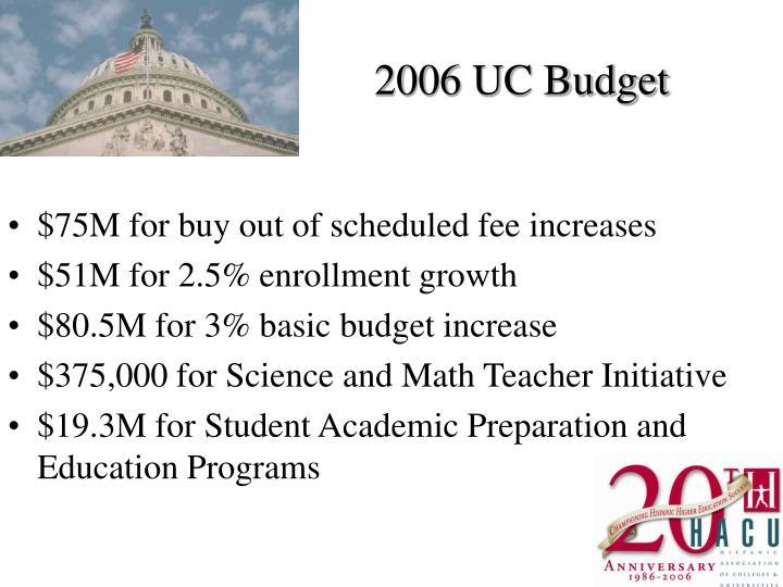 2006 UC Budget