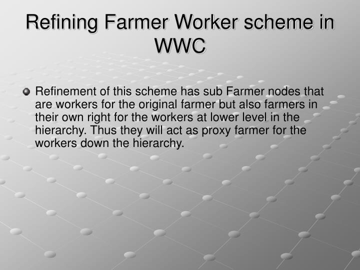 Refining Farmer Worker scheme in WWC