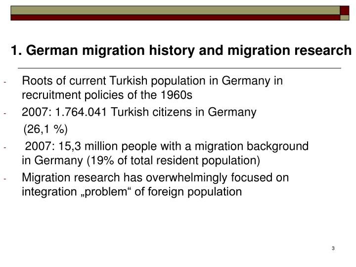 Roots of current Turkish population in Germany in recruitment policies of the 1960s