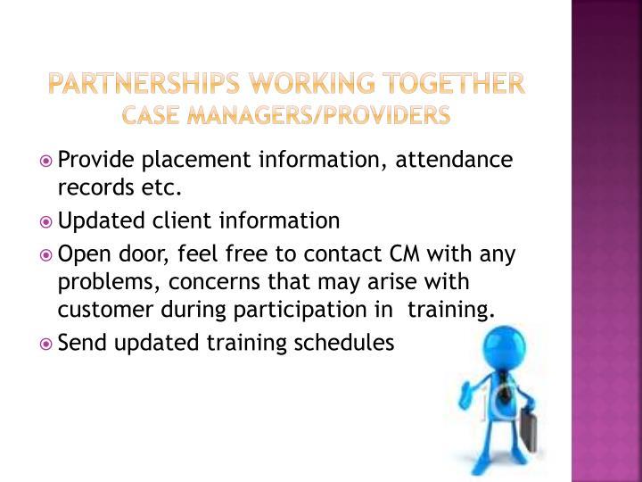 Partnerships Working Together