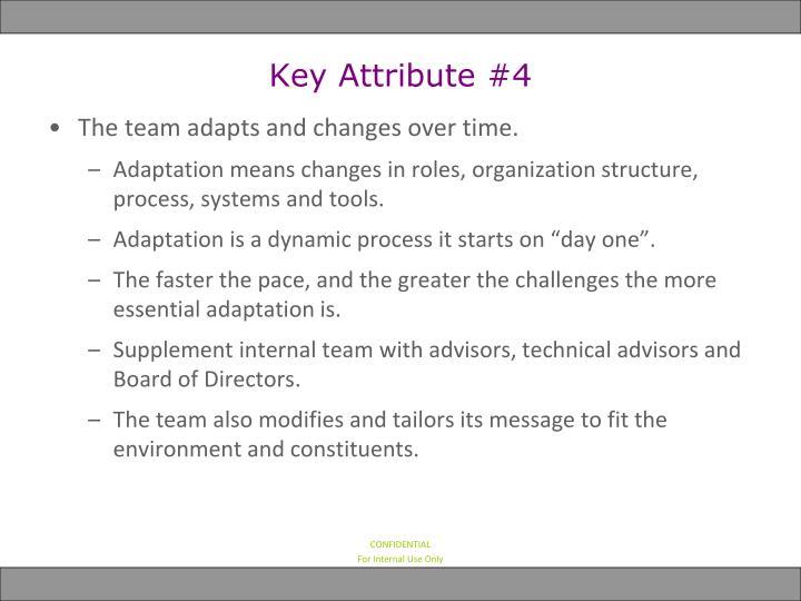 Key Attribute #4