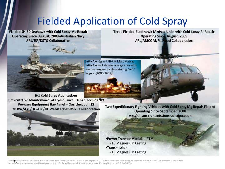 Fielded Application of Cold Spray