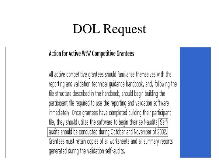 DOL Request