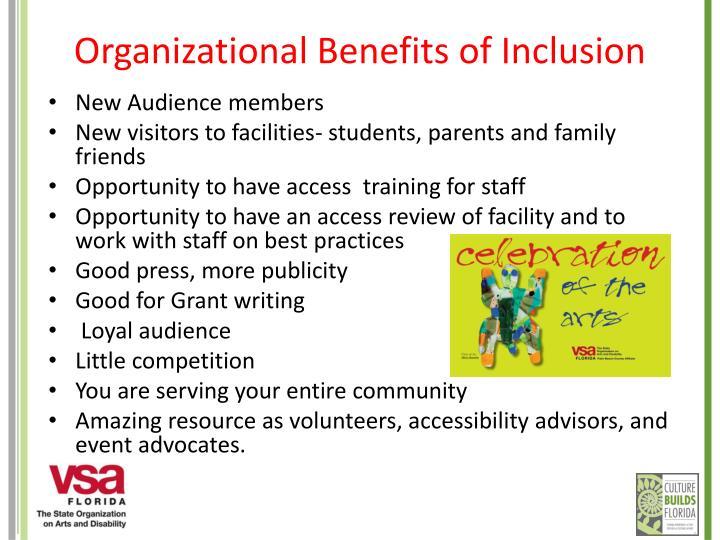 Organizational Benefits