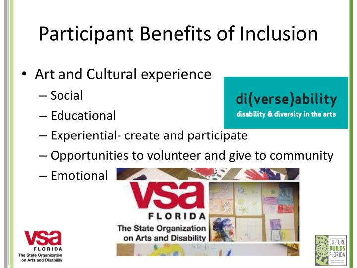 Participant Benefits of Inclusion