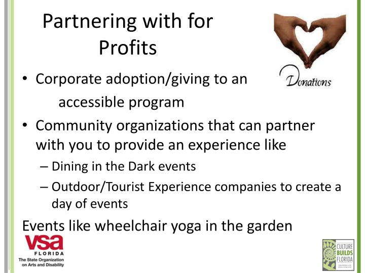 Partnering with for Profits