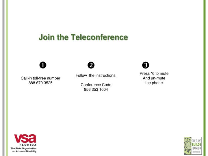Join the Teleconference