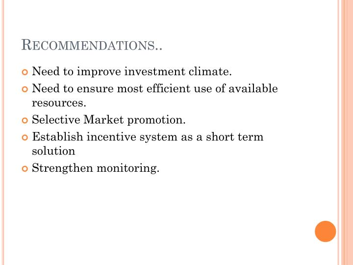 Recommendations..