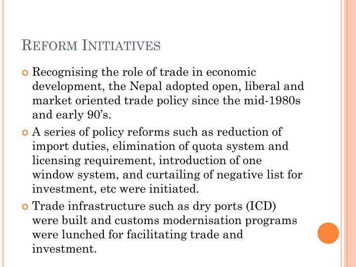 Reform Initiatives
