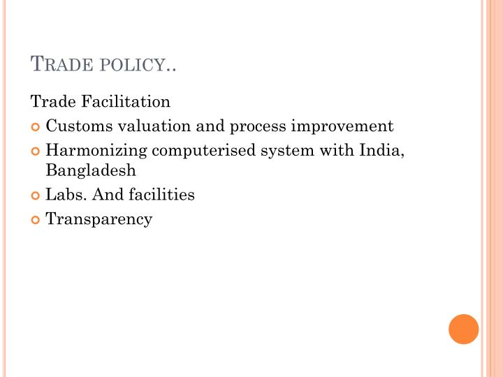 Trade policy..