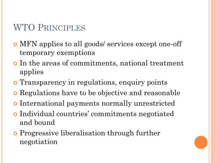 WTO Principles