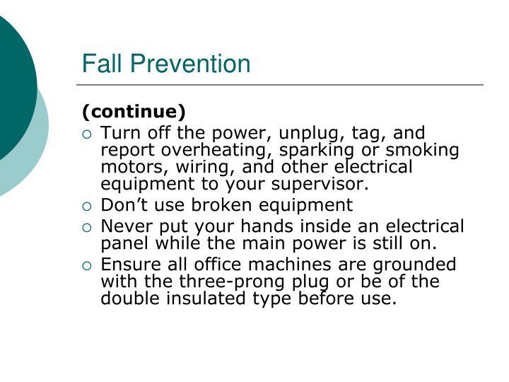 Fall Prevention