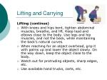 lifting and carrying1