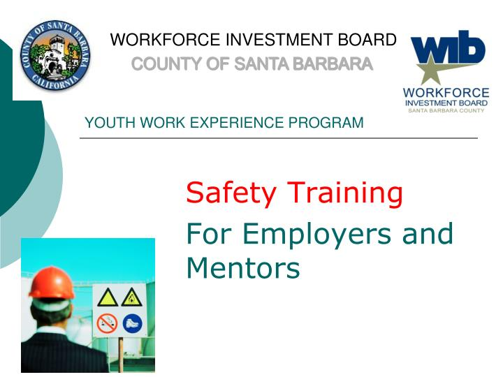 youth work experience program