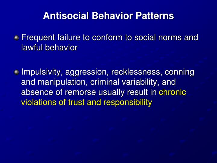 Antisocial Behavior Patterns