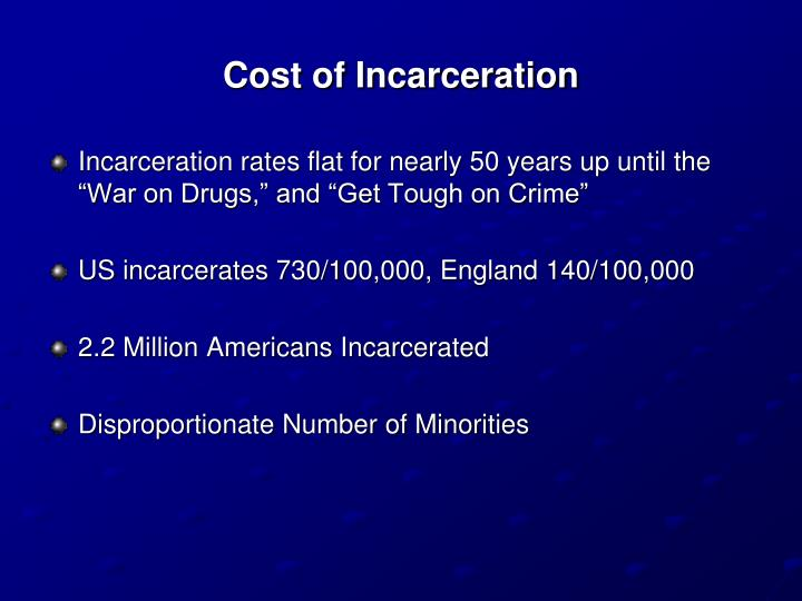 Cost of Incarceration