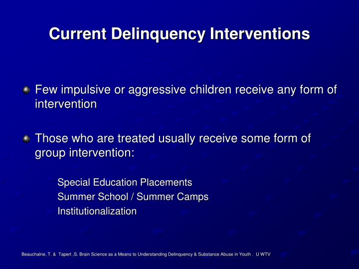 Current Delinquency Interventions