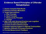 evidence based principles of offender rehabilitation