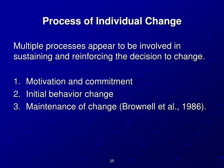 Process of Individual Change