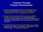 treatment principle program characteristics1