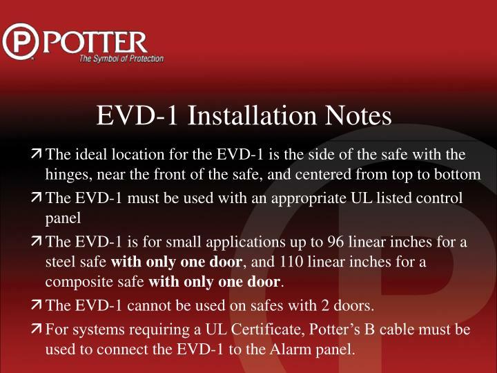 EVD-1 Installation Notes