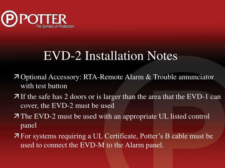 EVD-2 Installation Notes
