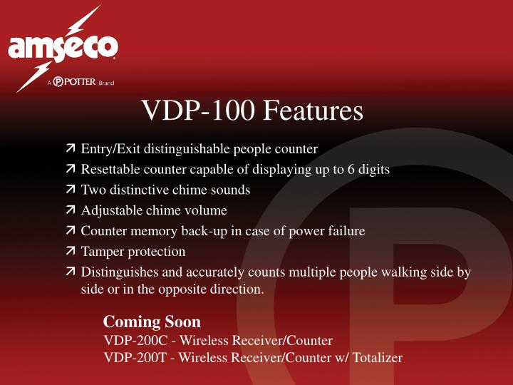 VDP-100 Features