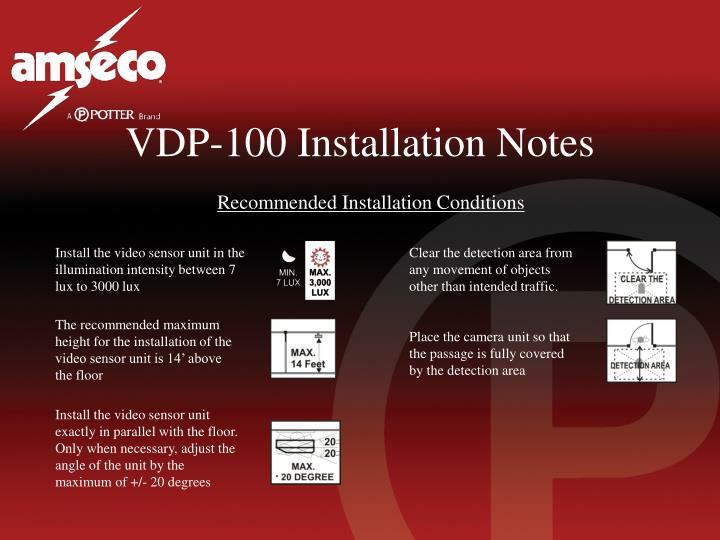VDP-100 Installation Notes
