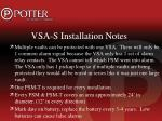 vsa s installation notes1