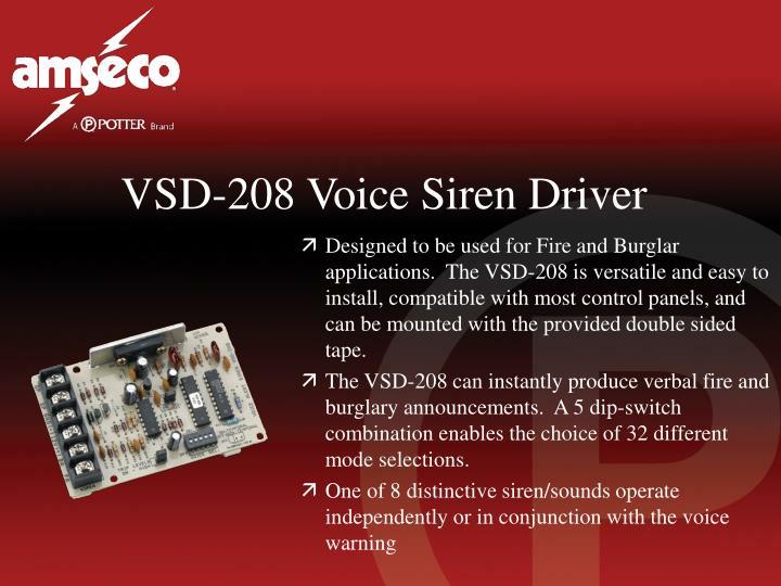 VSD-208 Voice Siren Driver