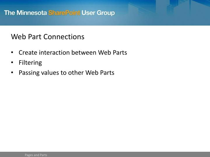 Web Part Connections