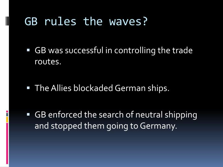 GB rules the waves?