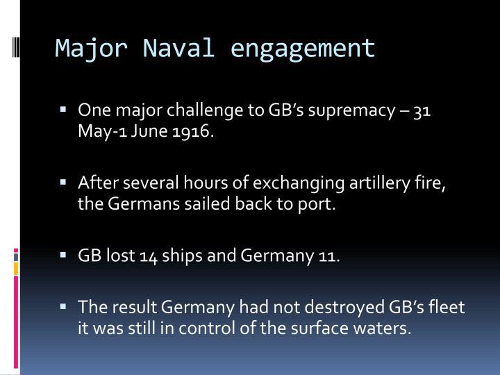 Major Naval engagement