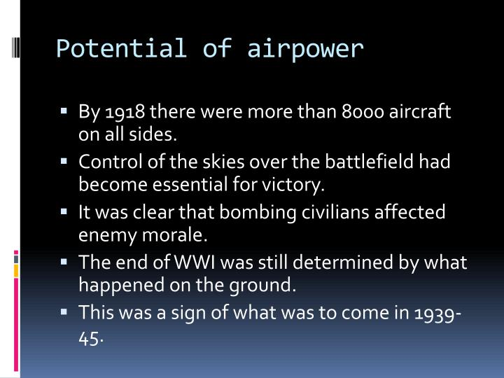Potential of airpower