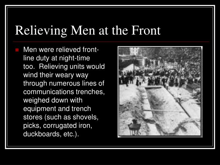 Relieving Men at the Front