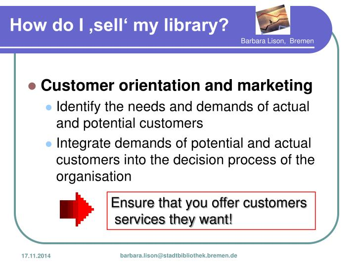 Customer orientation and marketing