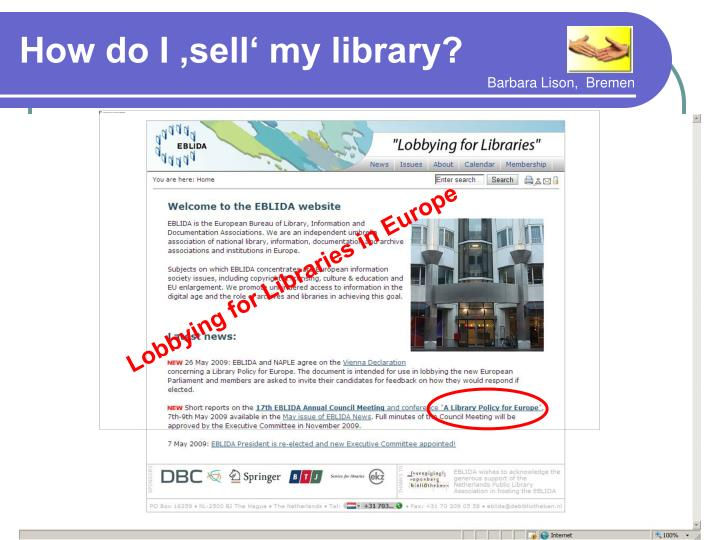 Lobbying for Libraries in Europe